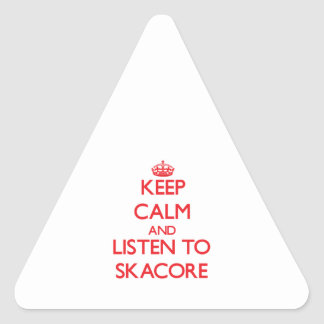 Keep calm and listen to SKACORE Sticker