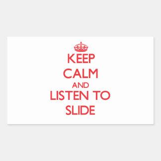 Keep calm and listen to SLIDE Sticker