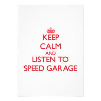 Keep calm and listen to SPEED GARAGE Card