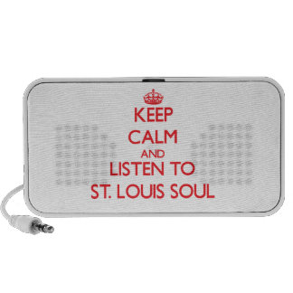 Keep calm and listen to ST LOUIS SOUL iPhone Speakers