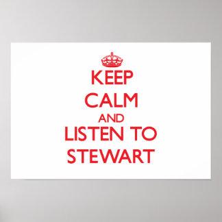 Keep calm and Listen to Stewart Poster