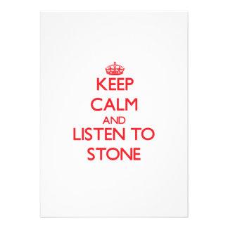 Keep calm and Listen to Stone Custom Invite