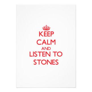 Keep calm and Listen to Stones Custom Invite