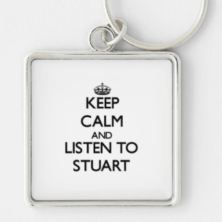 Keep Calm and Listen to Stuart Keychains