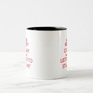 Keep calm and Listen to Stuart Two-Tone Coffee Mug