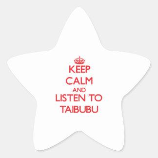 Keep calm and listen to TAIBUBU Sticker