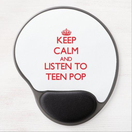 Keep calm and listen to TEEN POP Gel Mousepads