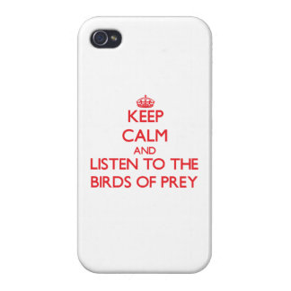 Keep calm and listen to the Birds Of Prey iPhone 4/4S Covers