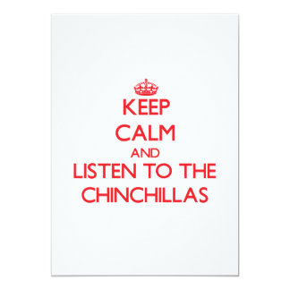 Keep calm and listen to the Chinchillas Announcement