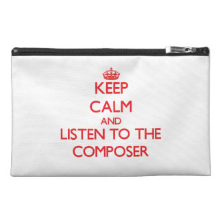 Keep Calm and Listen to the Composer Travel Accessories Bags