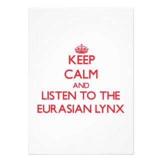 Keep calm and listen to the Eurasian Lynx Invite