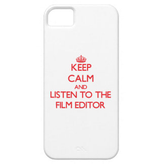 Keep Calm and Listen to the Film Editor iPhone 5 Covers