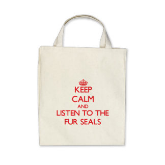 Keep calm and listen to the Fur Seals Tote Bag