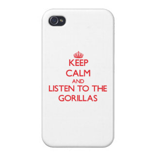 Keep calm and listen to the Gorillas iPhone 4/4S Case
