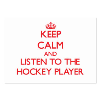 Keep Calm and Listen to the Hockey Player Business Card Template