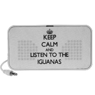 Keep calm and Listen to the Iguanas Travel Speakers