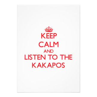 Keep calm and listen to the Kakapos Invite