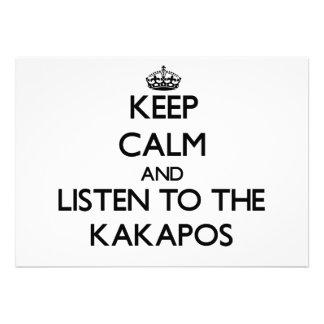 Keep calm and Listen to the Kakapos Custom Invites