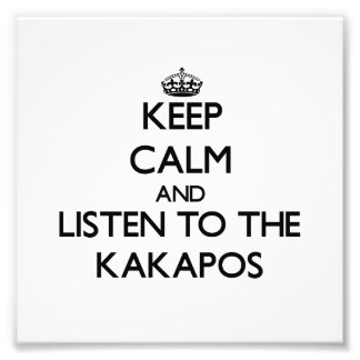 Keep calm and Listen to the Kakapos Photograph