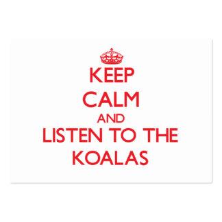 Keep calm and listen to the Koalas Business Card Template