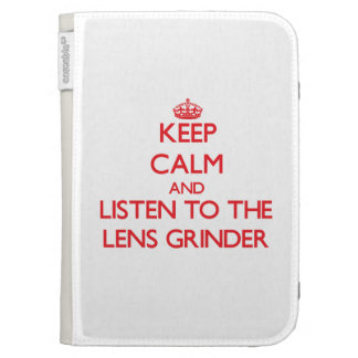 Keep Calm and Listen to the Lens Grinder Kindle Keyboard Case