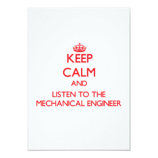 Keep Calm and Listen to the Mechanical Engineer Invite