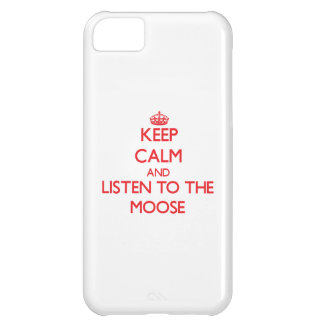 Keep calm and listen to the Moose iPhone 5C Case
