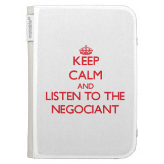 Keep Calm and Listen to the Negociant Kindle Keyboard Covers
