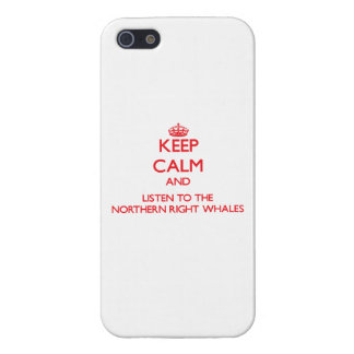 Keep calm and listen to the Northern Right Whales iPhone 5/5S Covers