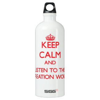 Keep Calm and Listen to the Recreation Worker SIGG Traveller 1.0L Water Bottle