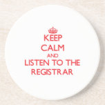 Keep Calm and Listen to the Registrar
