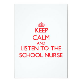 Keep Calm and Listen to the School Nurse Custom Announcement