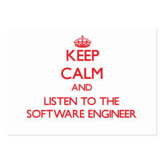 Keep Calm and Listen to the Software Engineer Business Cards