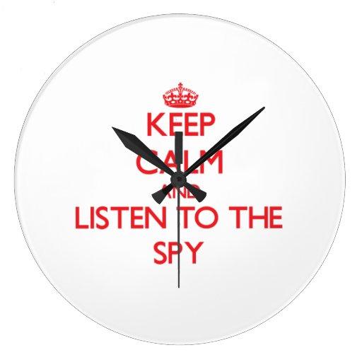 Keep Calm and Listen to the Spy Wallclocks