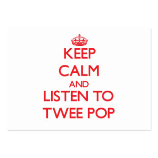Keep calm and listen to TWEE POP Business Card Template