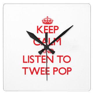 Keep calm and listen to TWEE POP Wallclock