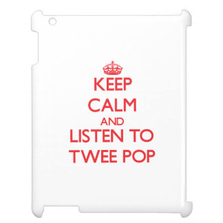 Keep calm and listen to TWEE POP iPad Cover