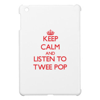 Keep calm and listen to TWEE POP iPad Mini Cover