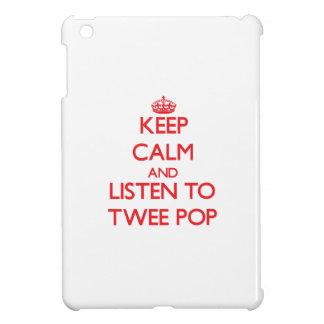 Keep calm and listen to TWEE POP iPad Mini Cover