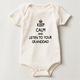Keep Calm and Listen to  your Granddad Baby Bodysuits