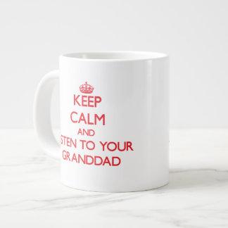 Keep Calm and Listen to your Granddad Jumbo Mug