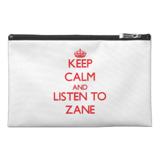 Keep Calm and Listen to Zane Travel Accessory Bag