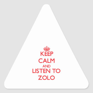 Keep calm and listen to ZOLO Triangle Sticker