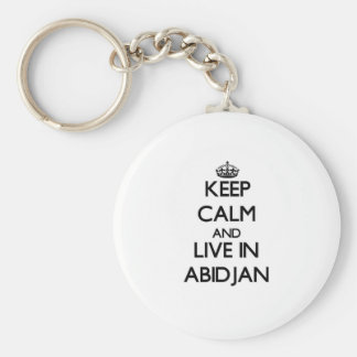 Keep Calm and live in Abidjan Key Chains