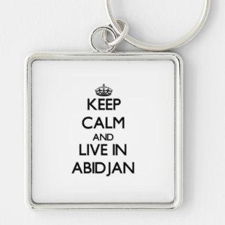 Keep Calm and live in Abidjan Keychain