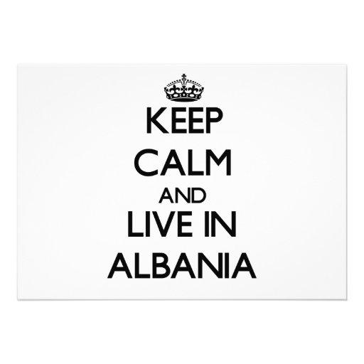 Keep Calm and Live In Albania Custom Invitation
