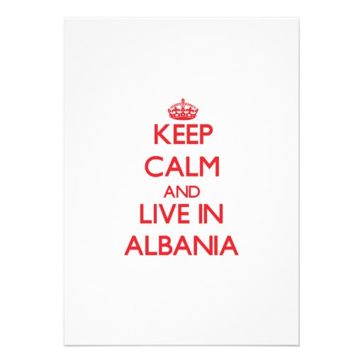 Keep Calm and live in Albania Announcement