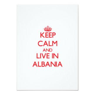 Keep Calm and live in Albania 13 Cm X 18 Cm Invitation Card