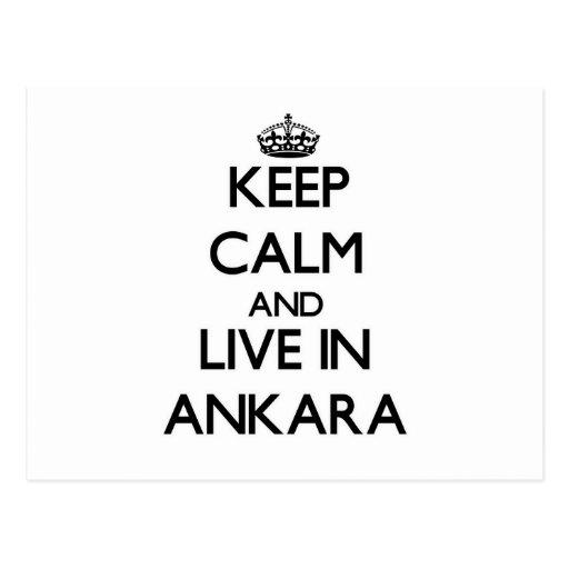 Keep Calm and live in Ankara Postcard