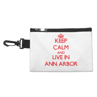 Keep Calm and Live in Ann Arbor Accessory Bags